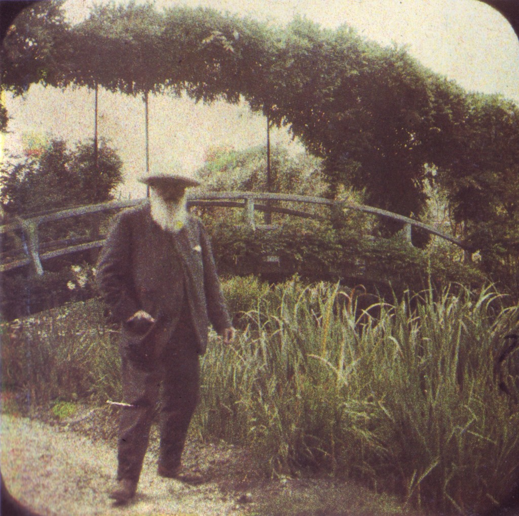 Claude Monet, in gradina de la Giverny